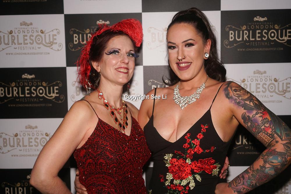 London,England,UK. 22th May 2017. Red Velvet ,Saskia de Muir *Adelaide, Australia preforms at the London Burlesque Festival 2017 - Tattoo Revue at Moth Club, Hackney,London,UK. by See Li