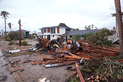 August 28, 2017 - Rockport, Texas, U.S. - Damaged homes from Hurricane Harvey sit in the Key Allegro subdivision on Monday. Property managers were checking Monday to make sure residents were the only ones going into the heavily damaged subdivision. (Credit Image: © Rachel Denny Clow/TNS via ZUMA Wire)