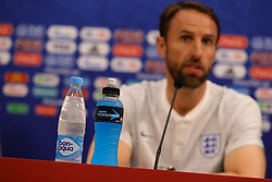 England manager Gareth Southgate during the media conference at the Nizhny Novgorod Stadium, Nizhny Novgorod. PRESS ASSOCIATION Photo. Picture date: Saturday June 23, 2018. See PA story WORLDCUP England. Photo credit should read: Aaron Chown/PA Wire. RESTRICTIONS: Editorial use only. No commercial use. No use with any unofficial 3rd party logos. No manipulation of images. No video emulation.