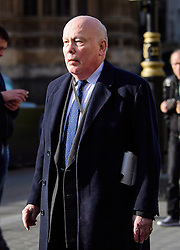 © Licensed to London News Pictures.07/03/2017.London, UK. Conservative peer,  LORD FELLOWES arrives at Parliament to vote in the Lord's on the third reading of the Brexit bill. .Photo credit: Ben Cawthra/LNP