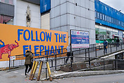 On the day that Elephant & Castle Shopping Centre closes before its demolition and redevelopment, 1960s architecture before doors are locked for the final time after 55 years, on 24th September 2020, in south London, England. The much-criticised architecture of the Elephant & Castle Shopping Centre was opened in 1965, built on the bomb damaged site of the former Elephant & Castle Estate, originally constructed in 1898. The centre was home to restaurants, clothing retailers, fast food businesses and clubs where south Londoners socialised and met lifelong partners.