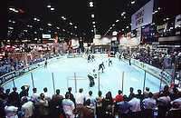 1997:  Inline Hockey Demo area inside the NSGA trade show in Chicago, IL. Transparency slide scan.