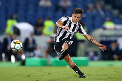 August 13, 2017 - Rome, Italy - Paulo Dybala of Juventus scoring the free kick of 1-2  during the Italian Supercup match between Juventus and SS Lazio at Stadio Olimpico on August 13, 2017 in Rome, Italy. (Credit Image: © Matteo Ciambelli/NurPhoto via ZUMA Press)
