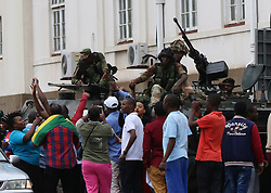 HARARE, Nov. 19, 2017  People attend a rally to express support for the military in Harare, Zimbabwe, Nov. 18, 2017.  yk) (Credit Image: © Shawn Jusa/Xinhua via ZUMA Wire)