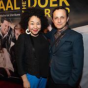 NLD/Amsterdam/20200123 - Premiere Haal Het Doek Maar Op, Naomi van der Linden en ...........