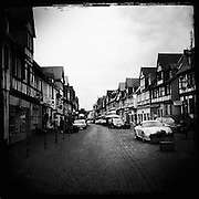 Cobblestone streets and half timber houses of Büdingen, Germany.