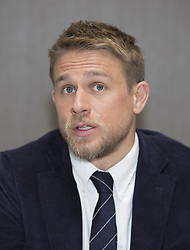 April 30, 2017 - Hollywood, California, U.S. - CHARLIE HUNNAM promotes 'King Arthur: Legend of the Sword.' Charles Matthew Hunnam (born April 10, 1980) is an English actor. He is known for his roles as Jackson 'Jax' Teller in the FX drama series Sons of Anarchy (2008–14), Nathan Maloney in the Channel 4 drama Queer as Folk (1999–2000), Lloyd Haythe in the Fox comedy series Undeclared (2001–02), the title role in Nicholas Nickleby (2002), Pete Dunham in Green Street (2005), and Raleigh Becket in Pacific Rim (2013), Crimson Peak (2015), The Lost City of Z (2016), Papillon (2017), King Arthur: Legend of the Sword (2017). (Credit Image: © Armando Gallo via ZUMA Studio)