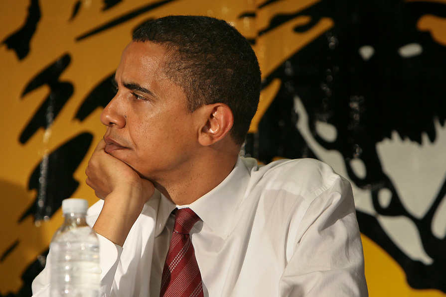 """""""I think this school exemplifies some of the enormous problems that we're having, just in terms of getting enough resources to educate our kids.""""  Senator Barack Obama"""