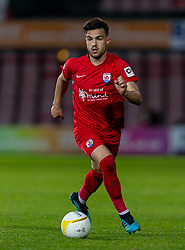 WREXHAM, WALES - Thursday, September 17, 2020: Connah's Quay Nomads' Callum James Roberts during the UEFA Europa League Second Qualifying Round match between Connah's Quay Nomads FC and FC Dinamo Tbilisi at the Racecourse Ground. Dinamo Tiblisi won 1-0. (Pic by David Rawcliffe/Propaganda)