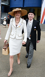 LORD & LADY LLOYD WEBBER at the 2nd day of the 2013 Royal Ascot Horseracing festival at Ascot Racecourse, Ascot, Berkshire on 19th June 2013.