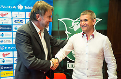 Ranko Stojic, director and Marijan Pusnik introduced as a new coach during press conference of NK Olimpija before new season 2015/16, on June 10, 2015 in Austria Trend Hotel, Ljubljana, Slovenia. Photo by Vid Ponikvar / Sportida