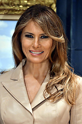 May 25, 2017 - Brussels, BELGIUM - First Lady of the US Melania Trump pictured during a visit of the First Ladies to the Magritte Museum, on Thursday 25 May 2017, in Brussels. US President Trump is on a two day visit to Belgium, to attend a NATO (North Atlantic Treaty Organization) summit on Thursday. BELGA PHOTO ERIC LALMAND (Credit Image: © Eric Lalmand/Belga via ZUMA Press)