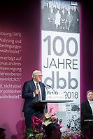 29 NOV 2018, BERLIN/GERMANY:<br /> Festakt mit Bundespraesident Steinmeier anl. des 100. Gruendungsjubilaeums des Beamtenbunds, dbb forum berlin<br /> IMAGE: 20181129-01-117<br /> KEYWORDS;´: Gründung, Jubiläum,