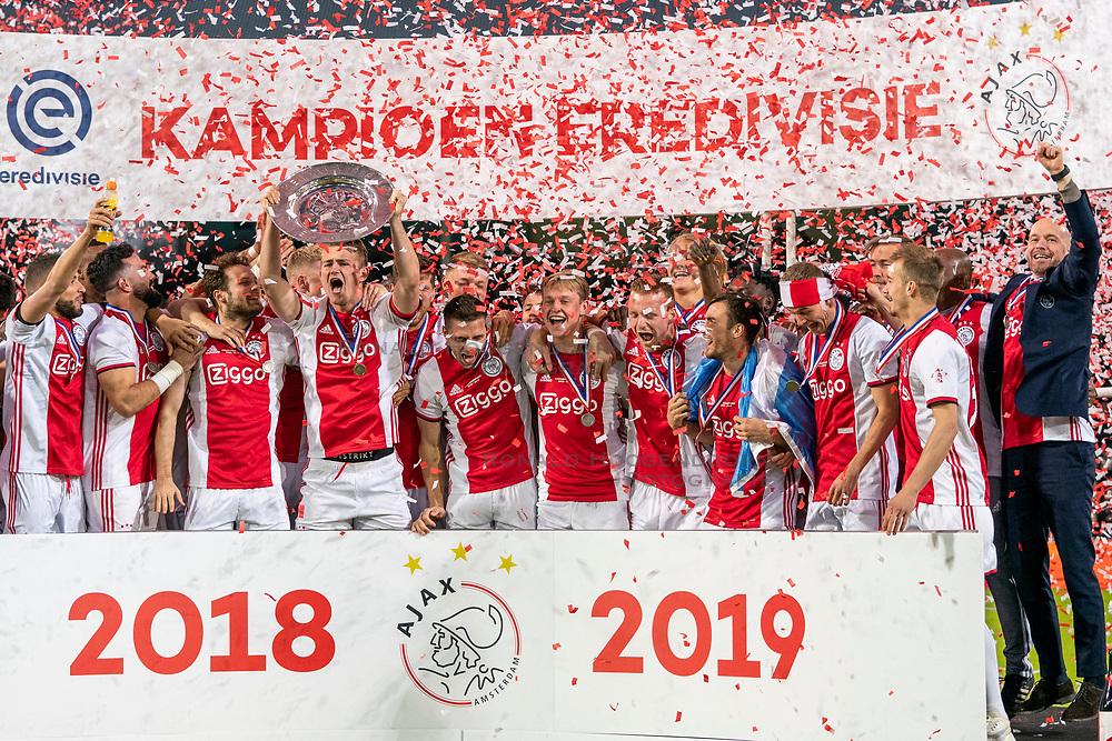 15-05-2019 NED: De Graafschap - Ajax, Doetinchem<br /> Round 34 / It wasn't really exciting anymore, but after the match against De Graafschap (1-4) it is official: Ajax is champion of the Netherlands / Ajax kampioen 2018-2019