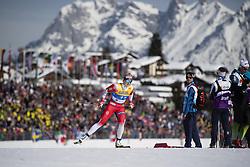 February 21, 2019 - Seefeld In Tirol, AUSTRIA - 190221 Mari Eide of Norway competes in women's cross-country skiing sprint qualification during the FIS Nordic World Ski Championships on February 21, 2019 in Seefeld in Tirol..Photo: Joel Marklund / BILDBYRÃ…N / kod JM / 87879 (Credit Image: © Joel Marklund/Bildbyran via ZUMA Press)
