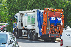© Licensed to London News Pictures 29/07/2021. Bexley, UK. A bin lorry out on the streets today. Household waste continues to pile up in the London borough of Bexley as binmen announce new strike dates in August. The workers have already been on strike for weeks and are striking over pay and victimisation of staff but employer Serco has failed to enter into negotiations. Photo credit:Grant Falvey/LNP