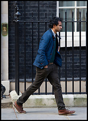 Rohan Silva outside No10 Downing Street, London, Tuesday February 5, 2013. Photo By Andrew Parsons / i-Images