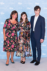© Licensed to London News Pictures. 24/08/2017. London, UK. Series creator DAISY GOODWIN, actress JENNA COLEMAN and actor TOM HUGHES, attend the launch of the ITV series VICTORIA season 2. Jenna plays Queen Victoria in the series. Photo credit: Ray Tang/LNP