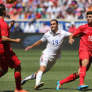 Graham Zusi, USA, in action during the US Men's National Team Vs Turkey friendly match at Red Bull Arena.  The game was part of the USA teams three-game send-off series in preparation for the 2014 FIFA World Cup in Brazil. Red Bull Arena, Harrison, New Jersey. USA. 1st June 2014. Photo Tim Clayton