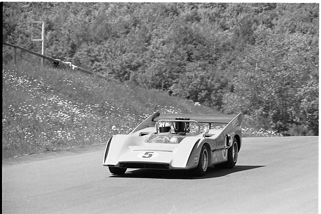 Denny Hulme, 1970 Can-Am champion, in McLaren M8D at St. Jovite