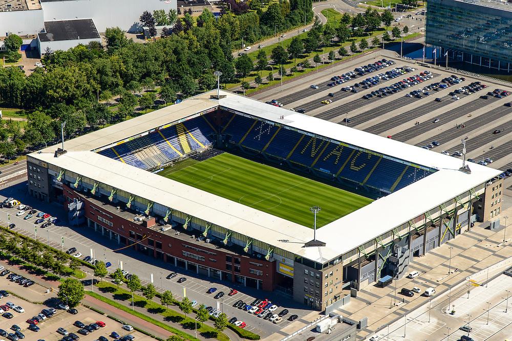 Nederland, Noord-Brabant, Breda, 23-08-2016; <br /> Voetbalstadion van NAC Breda, Rat Verlegh Stadion.<br /> Football stadium NAC Breda, the Rat Verlegh Stadium.<br /> <br /> aerial photo (additional fee required); <br /> luchtfoto (toeslag op standard tarieven); copyright foto/photo Siebe Swart