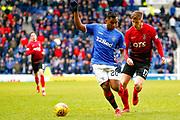 Rangers Striker Alfredo Morelos during the Ladbrokes Scottish Premiership match between Rangers and Kilmarnock at Ibrox, Glasgow, Scotland on 16 March 2019.