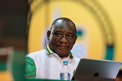 JOHANNESBURG, Dec. 18, 2017  Cyril Ramaphosa is seen before the announcement of results at South Africa's ruling party African National Congress' conference in Johannesburg, South Africa, on Dec. 18, 2017. South Africa's ruling party African National Congress (ANC) elected Cyril Ramaphosa on Monday to be the party's president for the next five years. (Credit Image: © Dave Naicker/Xinhua via ZUMA Wire)