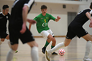 Central player Charlie Bayly in the Mens Futsal Superleague match, Central v Capital, Pettigrew Green Arena, Napier, Saturday, September 28, 2019. Copyright photo: Kerry Marshall / www.photosport.nz