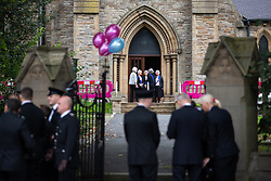 © Licensed to London News Pictures . 14/09/2018. Salford, UK. GV of the church ahead of the service . The funerals of Demi Pearson , Brandon Pearson , Lacie Pearson and Lia Pearson , at St Paul's Church in Walkden . Demi , Brandon , Lacie and Lia were aged 15 , eight , seven and three respectively when their home was set on fire as they slept . Zak Bolland and David Worrall were handed four life sentences for their murders . Photo credit: Joel Goodman/LNP