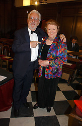 Actress PATRICIA ROUTLEDGE and actor BERNARD CRIBBINS at Carols from Christmas - a celebration of Christmas held at the Royal Hospital Chapel, Chelsea, London in aid of The Institute of Cancer Research on 5th December 2006.<br />