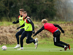 Alfie Mawson and Chris Martin of Bristol City during a training session ahead of the FA Cup game with Portsmouth - Rogan/JMP - 07/01/2021 - Failand - Bristol, England.