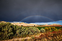 Double Rainbow in Utah. Image taken with a Nikon D3 camera and 14-24 mm f/2.8 lens (ISO 200, 17 mm, f/16, 1/80 sec). Raw image reprocessed in 2019 with Capture One Pro.