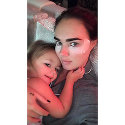 """Tamara Ecclestone releases a photo on Instagram with the following caption: """"I am so tired \ud83d\ude34 but snuggles from my baby make it easier \u2764\ufe0f"""". Photo Credit: Instagram *** No USA Distribution *** For Editorial Use Only *** Not to be Published in Books or Photo Books ***  Please note: Fees charged by the agency are for the agency's services only, and do not, nor are they intended to, convey to the user any ownership of Copyright or License in the material. The agency does not claim any ownership including but not limited to Copyright or License in the attached material. By publishing this material you expressly agree to indemnify and to hold the agency and its directors, shareholders and employees harmless from any loss, claims, damages, demands, expenses (including legal fees), or any causes of action or allegation against the agency arising out of or connected in any way with publication of the material."""