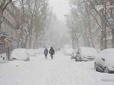 Storm Filomena hits Madrid