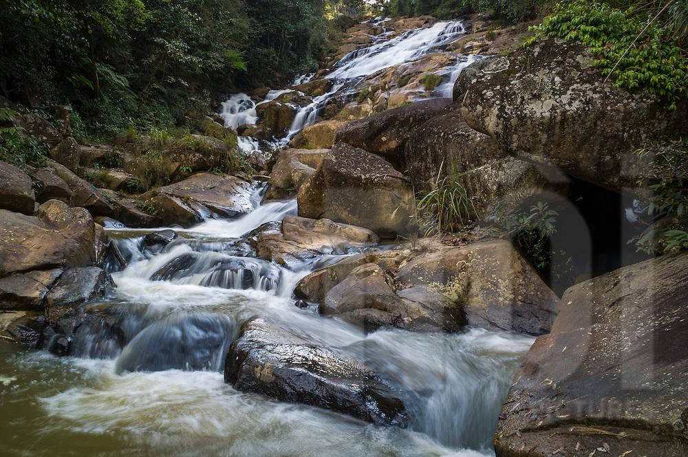 Phonxay Saleuy Waterfall, by Road 6, south of Sam Neua, Houaphanh Province, Laos, Southeast Asia