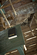 Bible in the local church, Togum Village, Lake Murray, Middle Fly District, Western Province, Papua New Guinea