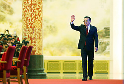 Chinese Premier Li Keqiang arrives for his press conference at the Great Hall of the People in Beijing, capital of China, March 16, 2016. EXPA Pictures © 2016, PhotoCredit: EXPA/ Photoshot/ Liu Weibing<br /> <br /> *****ATTENTION - for AUT, SLO, CRO, SRB, BIH, MAZ, SUI only*****