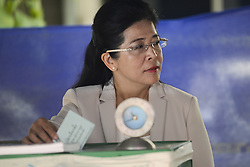 March 24, 2019 - Bangkok, Thailand - Pheu Thai party's candidate for prime minister Sudarat Keyuraphan during voting at his local polling station voting in Bangkok, Thailand, 24 March, 2019. (Credit Image: © Anusak Laowilas/NurPhoto via ZUMA Press)