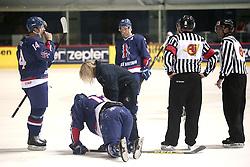18.04.2016, Dom Sportova, Zagreb, CRO, IIHF WM, England vs Estland, Division I, Gruppe B, im Bild WEAVER Jonathan, PHILLIPS David, RICHARDSON Mark. // during the 2016 IIHF Ice Hockey World Championship, Division I, Group B, match between England and Estonia at the Dom Sportova in Zagreb, Croatia on 2016/04/18. EXPA Pictures © 2016, PhotoCredit: EXPA/ Pixsell/ Sanjin Strukic<br /> <br /> *****ATTENTION - for AUT, SLO, SUI, SWE, ITA, FRA only*****