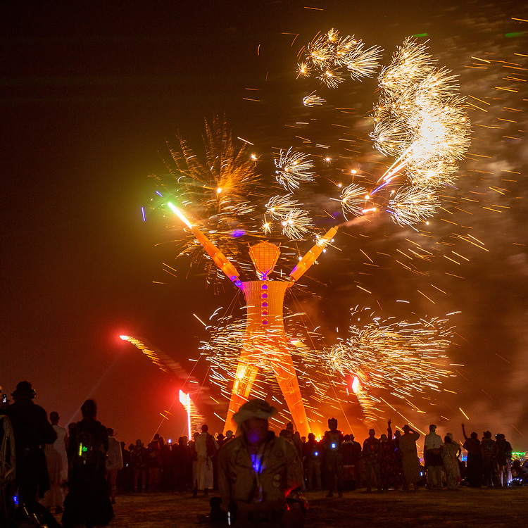 Fireworks at the Man Burn 2014