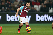 Robert Snodgrass of West Ham United in action. Premier league match, West Ham Utd v West Bromwich Albion at the London Stadium, Queen Elizabeth Olympic Park in London on Saturday 11th February 2017.<br /> pic by John Patrick Fletcher, Andrew Orchard sports photography.