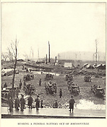 the garrison at Johnsonville, on the Tennessee, eighty miles due west of Nashville, from the book ' The Civil war through the camera ' hundreds of vivid photographs actually taken in Civil war times, sixteen reproductions in color of famous war paintings. The new text history by Henry W. Elson. A. complete illustrated history of the Civil war