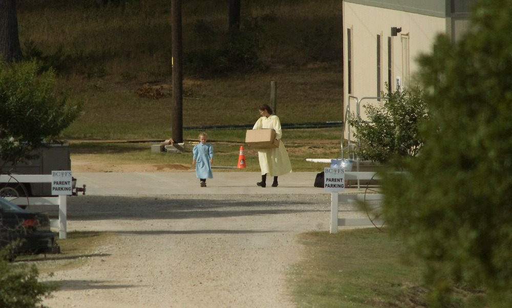 Luling, TX June 3, 2008:  Parents of FLDS sect children held by the State of Texas arrive at the Baptist Children's Youth Ranch outside this Gonzales County facility to pickup their children released by court order last Friday.       ©Bob Daemmrich