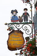 patisserie shop wrought iron sign h allemann eguisheim alsace france