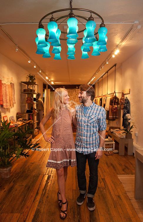 Winnie Beattie and Rob Magnotta, owners of Warm, New York...Photo by Robert Caplin..
