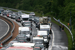 The first day was marred by traffic congestion with up to 13 hours of delays and 12 miles of tailbacks on the southbound M90 motorway..T in the Park festival took place on the 6th, 7th and 8 July 2007, at Balado, near Kinross in Perth and Kinross, Scotland. This was the first time the festival had been held over three days..Pic ©2011 Michael Schofield. All Rights Reserved..