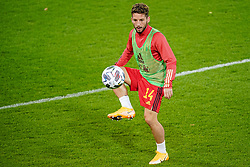 LEUVEN, BELGIUM - Sunday, November 15, 2020: Belgium's Dries Mertens during the pre-match warm-up before the UEFA Nations League Group Stage League A Group 2 match between England and Belgium at Den Dreef. Belgium won 2-0. (Pic by Jeroen Meuwsen/Orange Pictures via Propaganda)