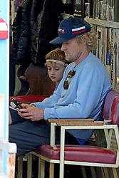 EXCLUSIVE: Owen Wilson takes his sons Finn and Robert for haircut in Santa Monica, CA. 13 Feb 2018 Pictured: Owen Wilson and Robert. Photo credit: MB / MEGA TheMegaAgency.com +1 888 505 6342