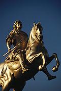 Dresden, East Germany. Frederick Augustus I bronze statue.