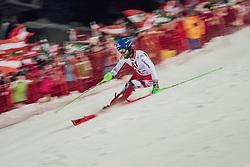 "29.01.2019, Planai, Schladming, AUT, FIS Weltcup Ski Alpin, Slalom, Herren, 2. Lauf, im Bild Marco Schwarz (AUT) // Marco Schwarz of Austria in action his 2nd run of men's Slalom ""the Nightrace"" of FIS ski alpine world cup at the Planai in Schladming, Austria on 2019/01/29. EXPA Pictures © 2019, PhotoCredit: EXPA/ Dominik Angerer"